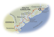 South Caroling Georgia Map